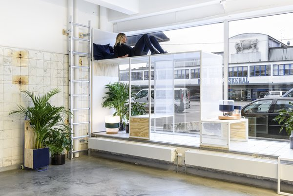 """The space is also filled with plants that will freshen and recycle the air. All in all, Space 10's design and furnishings create a fun and loose environment that can take whatever's thrown it way. """"It supplies this feeling [of being] a playground,"""" says Nikoline Dyrup Carlsen, Architect MAA and founding partner of Spacon & X. While Space 10 is open to the public today, those not in Copenhagen can tour the hub in this video."""