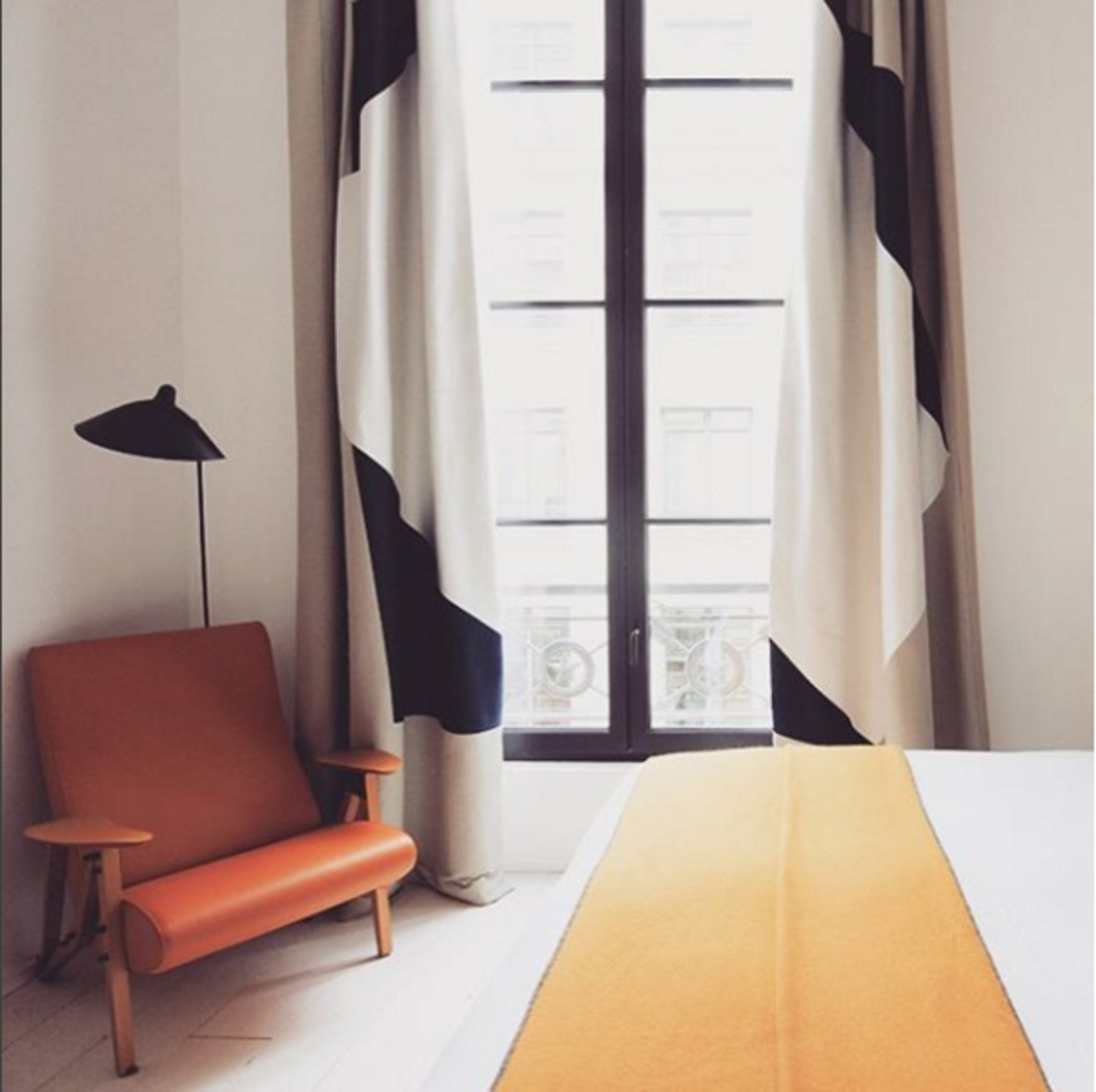 The view from the Hotel du Ministere in Paris.  Places to go from Instagram Account We Love: Finding the World's Best-Designed Hotels, Cafes, and More