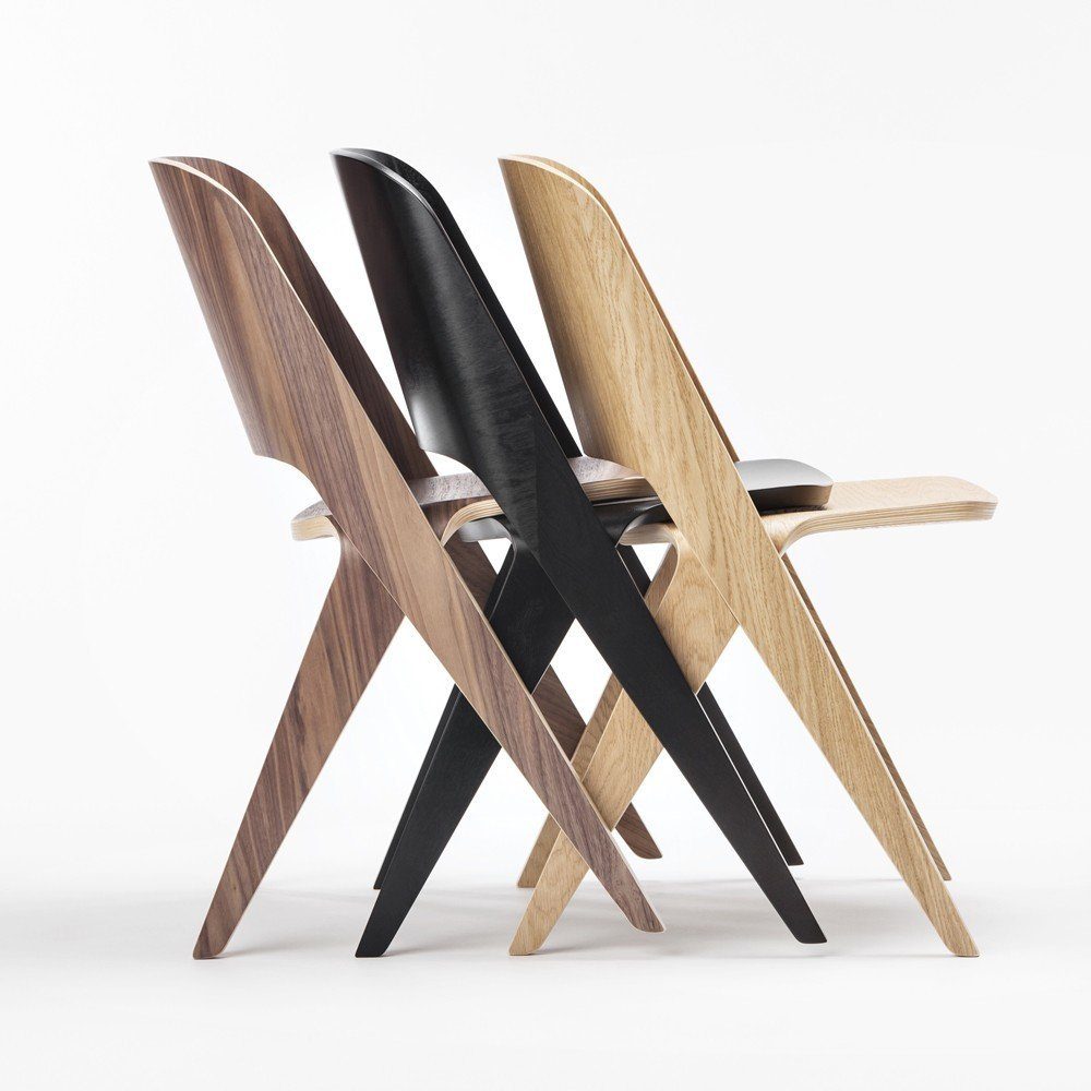 While it can't stack vertically, the Lavitta Molded Plywood Chair ($995-$1,030) can snugly fit together in rows. From Finnish brand Poiat, the chair comes in versions ranging from black stained birch to steamed walnut and more.  100+ Best Modern Seating Designs from Molded Plywood Designs from the Dwell Store