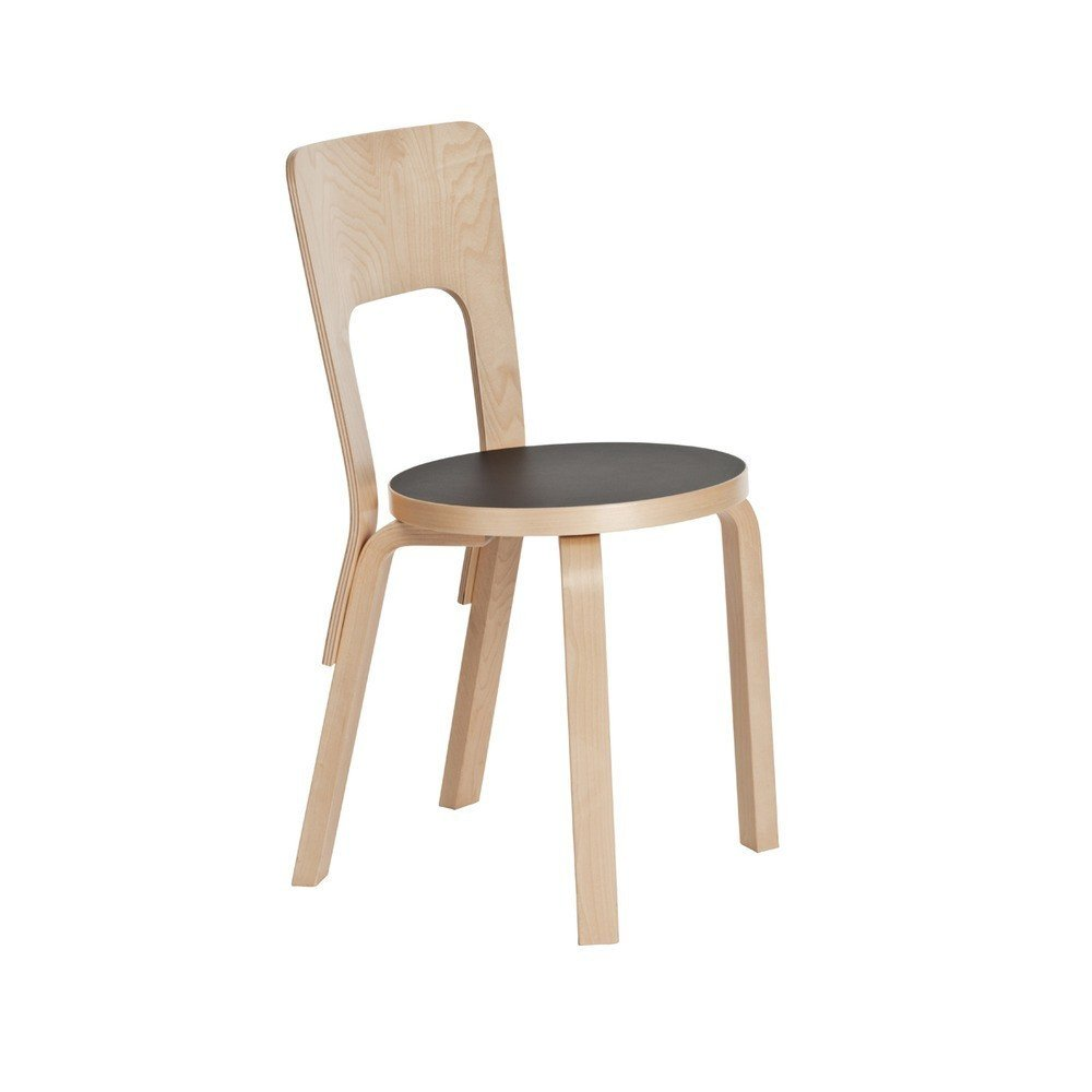 Originally designed by Alvar Aalto 1935, the Aalto Chair 66 ($446-456) for Artek is a classic example of Scandinavian simplicity.  100+ Best Modern Seating Designs from Molded Plywood Designs from the Dwell Store