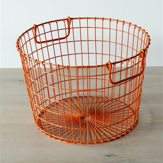 Last but not least, even in the digital age the modern office will inevitably produce trash. The Wire Potato Storage Basket ($36) comes in a vibrant blue or orange; it can just as easily store toys, blankets, or any range of household objects.