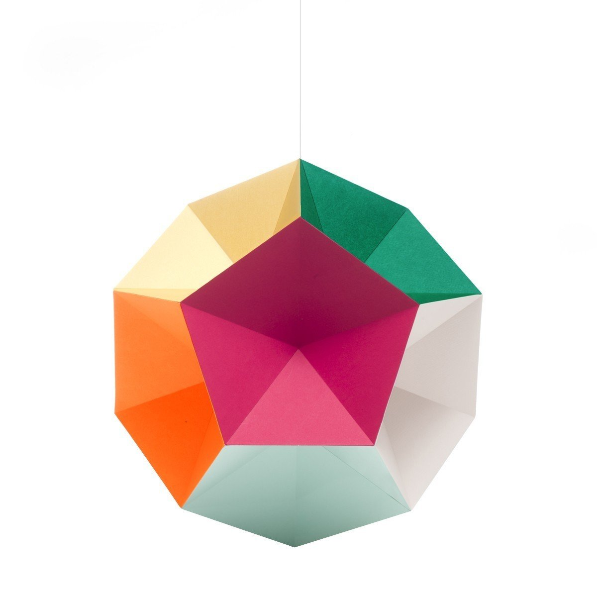 Themis Mobile Mono, $49 at the Dwell Store  This bright and playful dodecahedron is composed of twelve sides, all featuring a different vibrant hue—pastels, fluorescents and primaries. Hypnotizing and alluring, this distinctive hanging mobile is sure to inspire wonder in both the child and the child at heart.  Photo 7 of 8 in Dwell Store Gift Guide: For Kids
