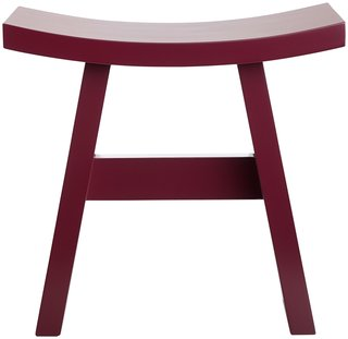 A simple Japanese-inspired stool can go double- or triple-duty in the home, and the dark red adds visual interest. $189 at BoConcept