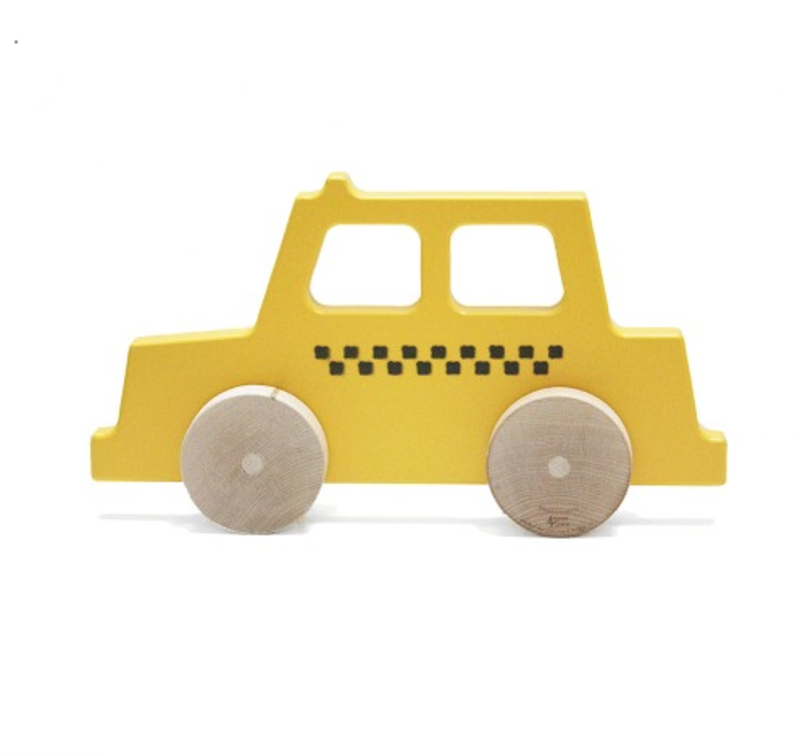 This sustainably sourced wooden heirloom toy from Manny and Simon boils the iconic New York City taxi cab down to its most basic elements: bright colors and fun shapes.  Absolutely Adorable Toys for Kids by Luke Hopping