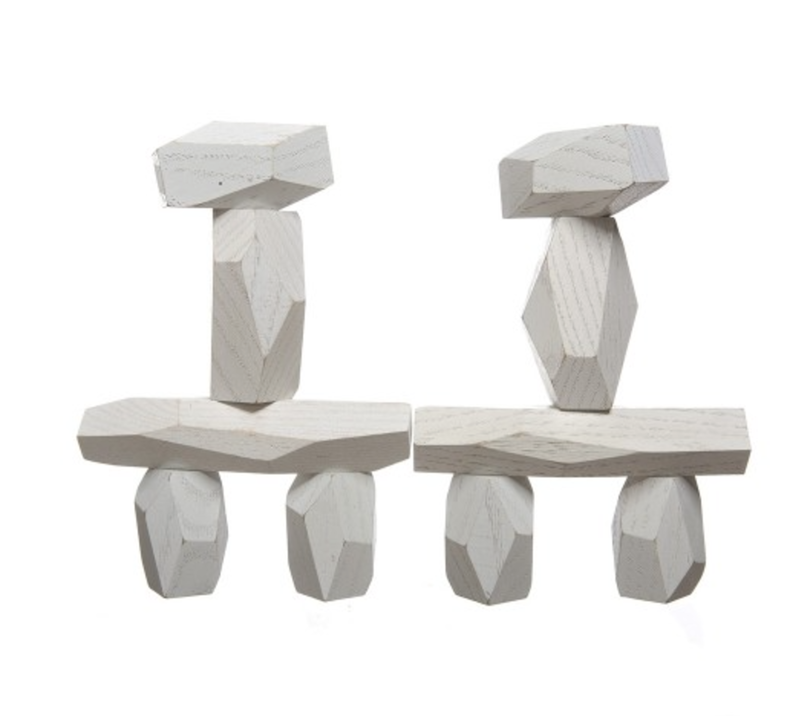 """This set of faceted balancing blocks from Fort Standard is a sculptural upgrade from stackable cubes.  Search """"mvrdvs balancing barn"""""""" from Absolutely Adorable Toys for Kids"""