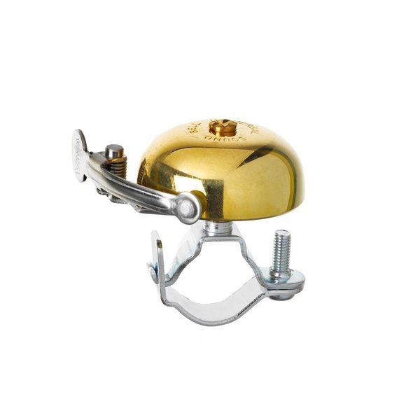 Last but not least, there's the classic Viva Brass Bicycle Bell whose retro-inspired form is 100% brass. An adjustable screw means this accessory can attach to a wide range of bike frames.