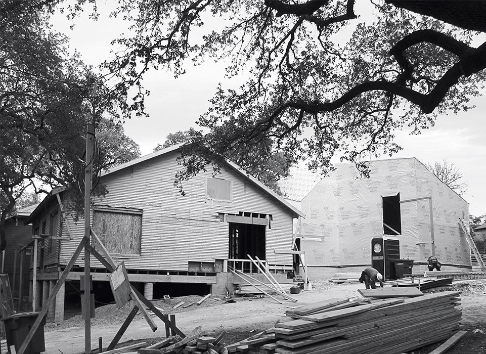 The bungalow before the renovation.  Photo 4 of 12 in 1920s Bungalow Plus Modern Addition Equals Perfect Austin Home