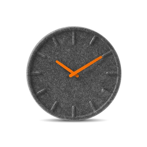 For those seeking to add texture to their timepiece, there's always the Felt Wall Clock desgined by Sebastian Herkner for Leff. Its 60 percent recycled PET felt even has sound-absorbing properties.