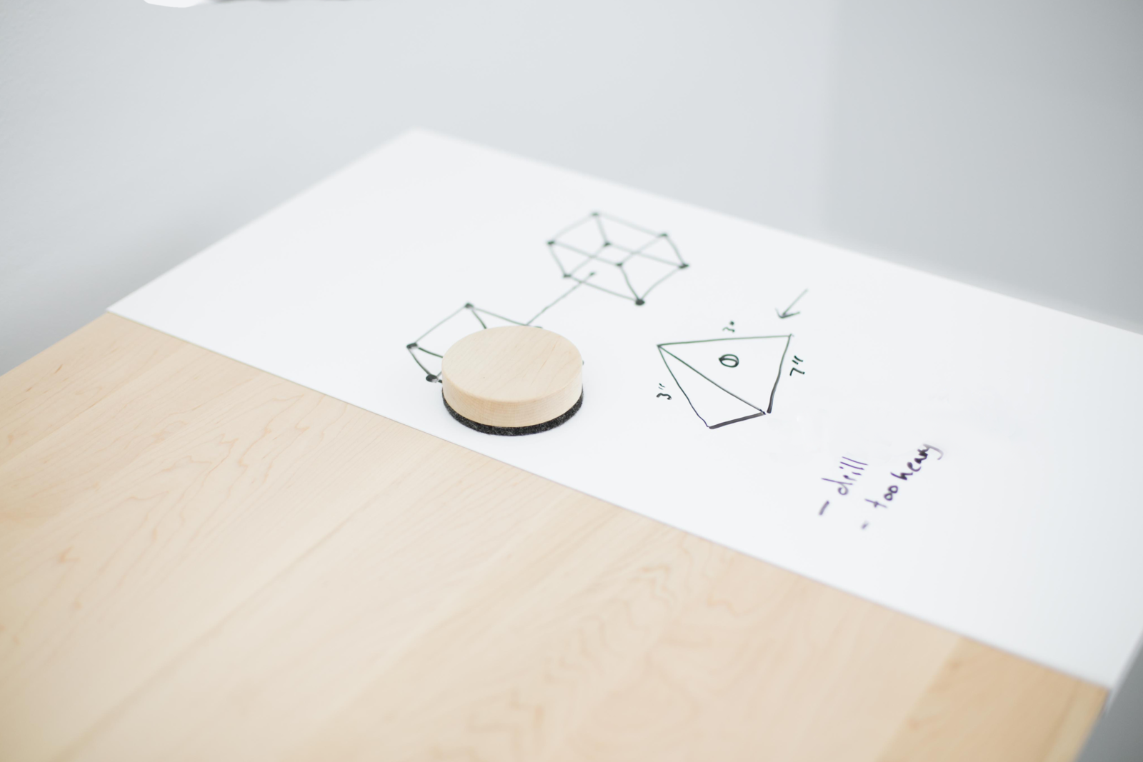 """Both the sitting and standing versions of DESK 01, a collaboration between Artifox and IdeaPaint, are outfitted with dry erase surfaces for recording sudden bursts of creativity.  Search """"11plus world desk clock"""" from A Handpicked Selection of Office Tools for Cutting Clutter and Jumpstarting Creativity"""