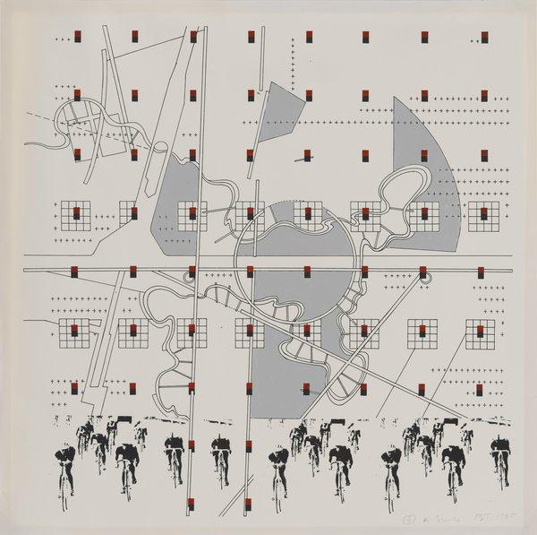 Bernard Tschumi, #4 K Series, 1985. Study for La Case Vide: La Villette, Folio VIII, 1985.