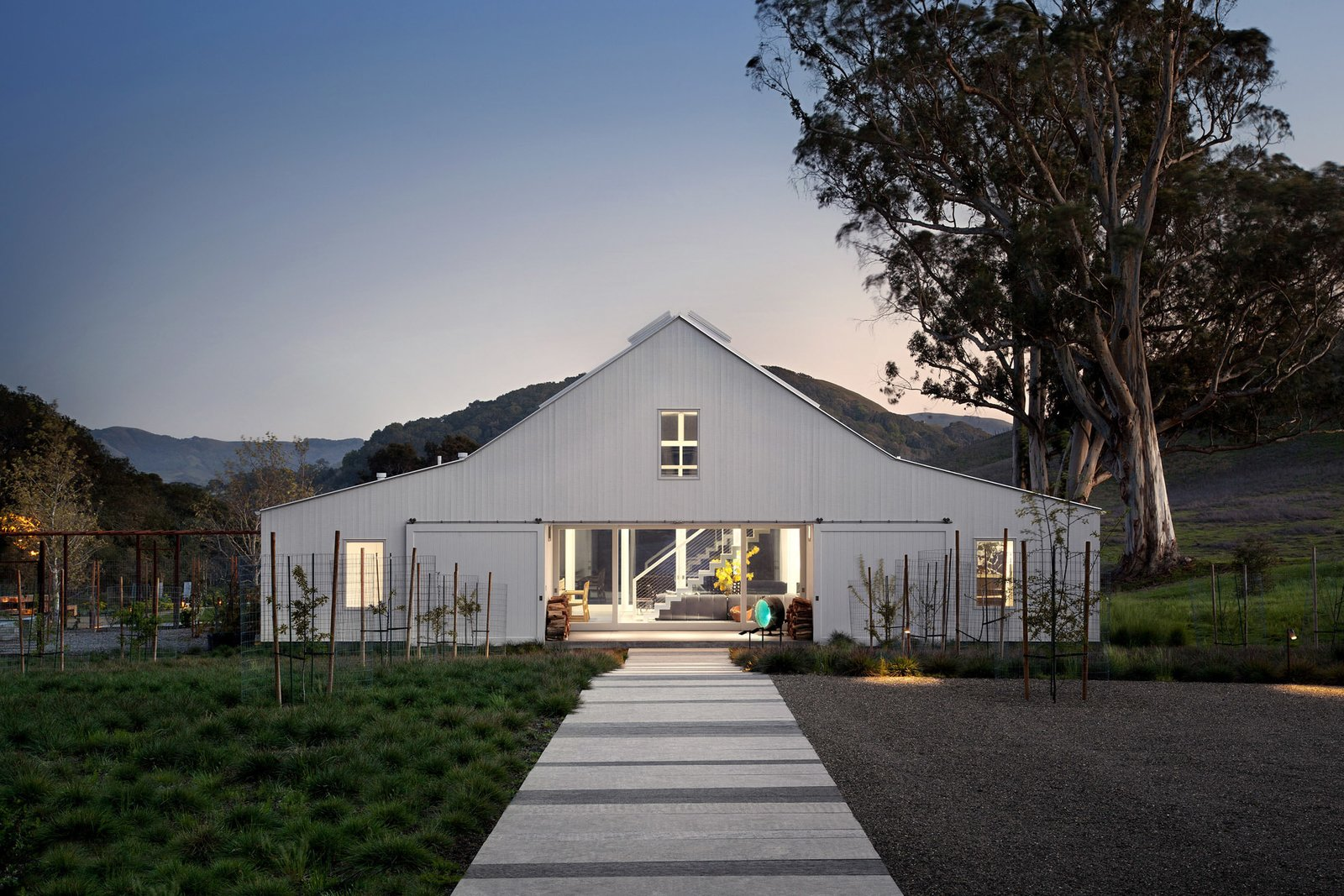 Western red cedar comprises the home's exterior siding, and AEP Span supplied the roofing material.  A LEED Platinum Family Home Takes the Place of an Abandoned California Farmhouse  by Kelly Dawson