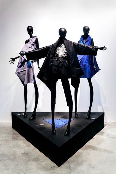 Designer Issey Miyake used algorithms, textile engineering, and 3-D modeling to create the recycled polymer garments in his future-forward 132 5. collection.