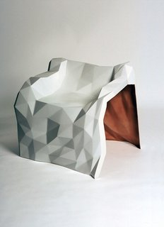 London-based designer Julian Mayor used fiberglass to turn a three-dimensional sketch into three-dimensional piece with the General Dynamic chair.