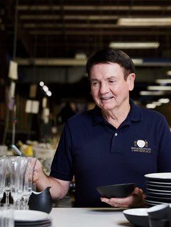 With 34 years of experience selling dinnerware, Bob Page is an authority on consumer trends. Younger shoppers aren't buying less, he observes, but they are gravitating toward simpler designs.