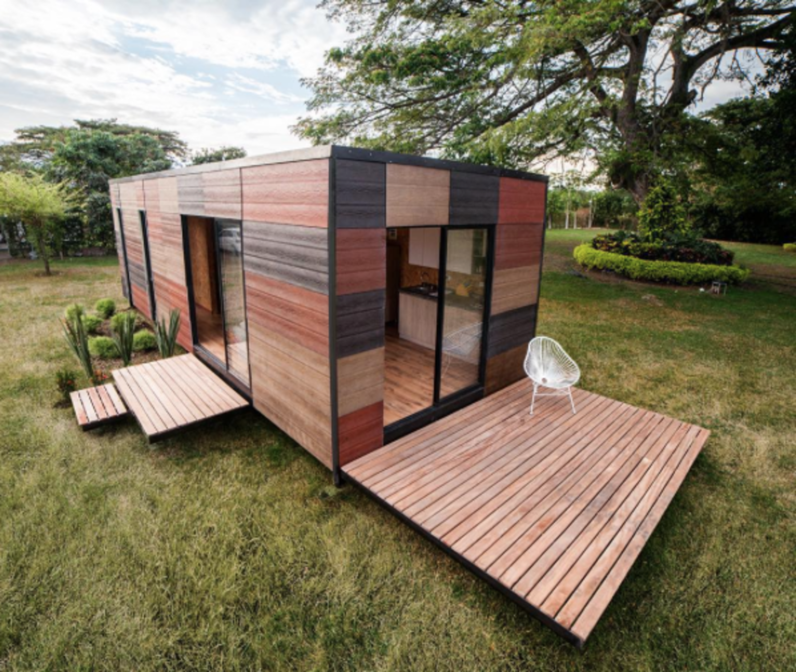 For more modular inspiration, grab a copy of our prefab issue, on newsstands now.  Photo 1 of 1 in Photo of the Week: Prefab Cabin with Green Add-Ons