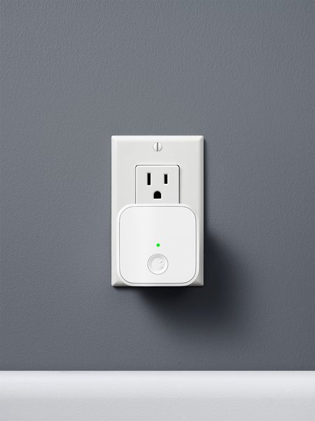 """Renowned industrial designer and August co-founder Yves Béhar says, """"To keep with the August belief in discreet and elegantly integrated designs, the August Connect is small and plugs into any wall outlet within fifteen feet of the lock. The box, like the original August Smart Lock, is a clean geometry with a distinct chamfered edge. A single LED light on the front subtly notifies you that the device is working, but otherwise the product remains hidden."""""""