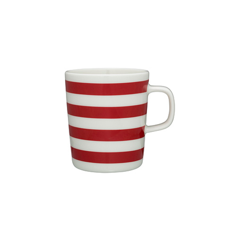Sip with Good Company with this mug designed by Sami Ruotsalainen as part of the Oiva dinnerware collection created just for Marimekko. Maybe it's the simple, clean shape or maybe it's the fact that we just can't stop thinking about peppermint candy canes. Mix and match with other cups in the collection for a medley of flavors.