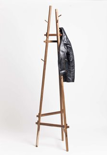 Sticotti cites a mixture of design inspiration from Japan, Scandinavia, and European designers who emigrated to the Unites States. A simplicity and honest expression of materials is evident in this coatrack made from peteribí and lapacho, both South American woods.