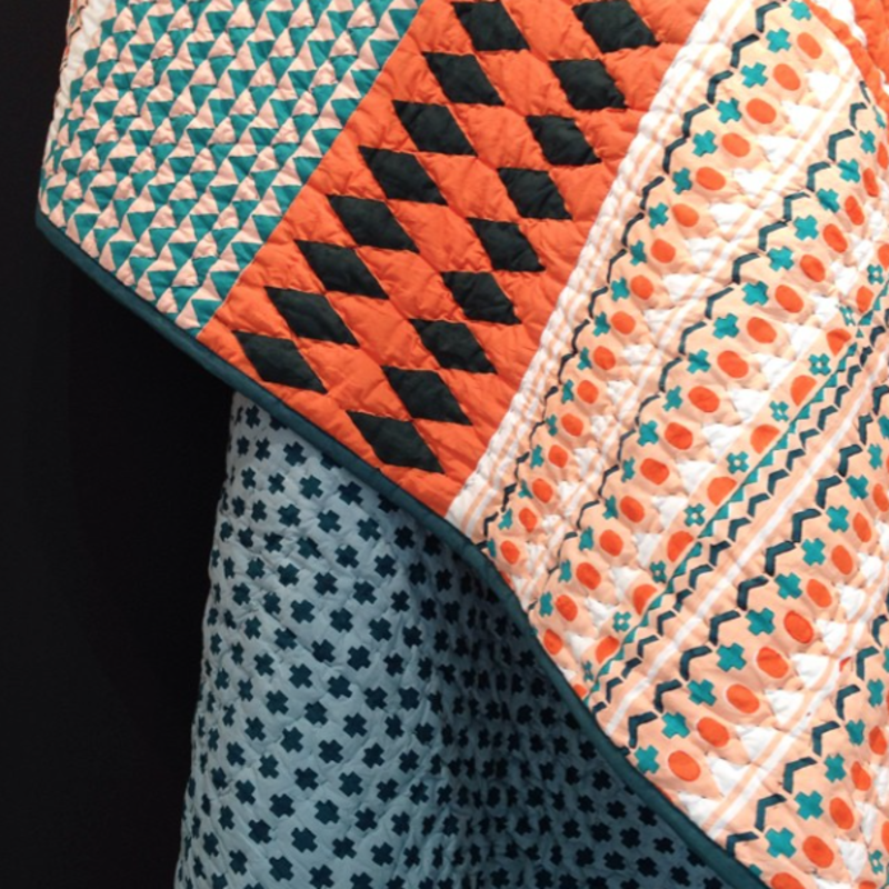 """A detail of the pattern on Donna Wilson's new quilt for @scpltd, spotted on the #MO14 show floor."""