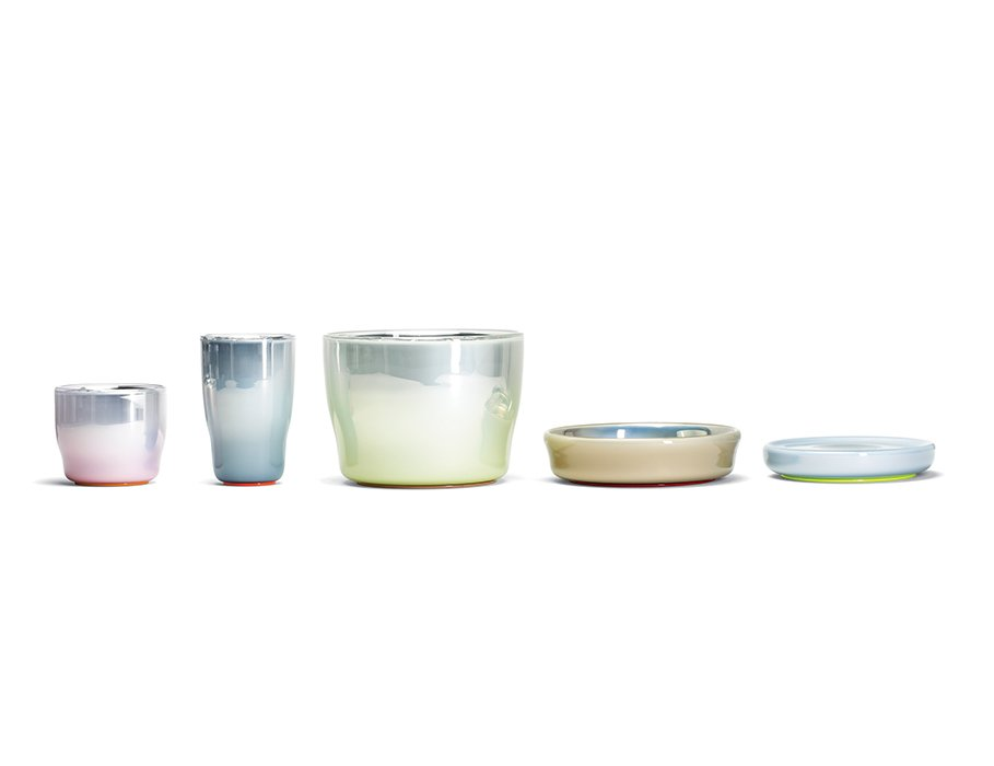The duo designed Pastel vessels for Verreum that are made of double-walled blown glass with a silver coating in a specialized factory in Prague.  Photo 2 of 4 in Dutch Designers Master Color and Texture