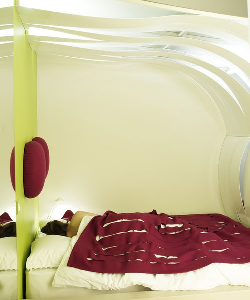The holistic LIVE IN also incorporates space for practical necessities, like sleep.