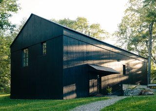 """Who better than the farmer and the farmer's family to know how most effectively and easily to find efficiency?"" says architect Alan Barlis. Regional architecture inspired the barn-life structure of the house, an open volume that aides in efficient heating and cooling of the space."