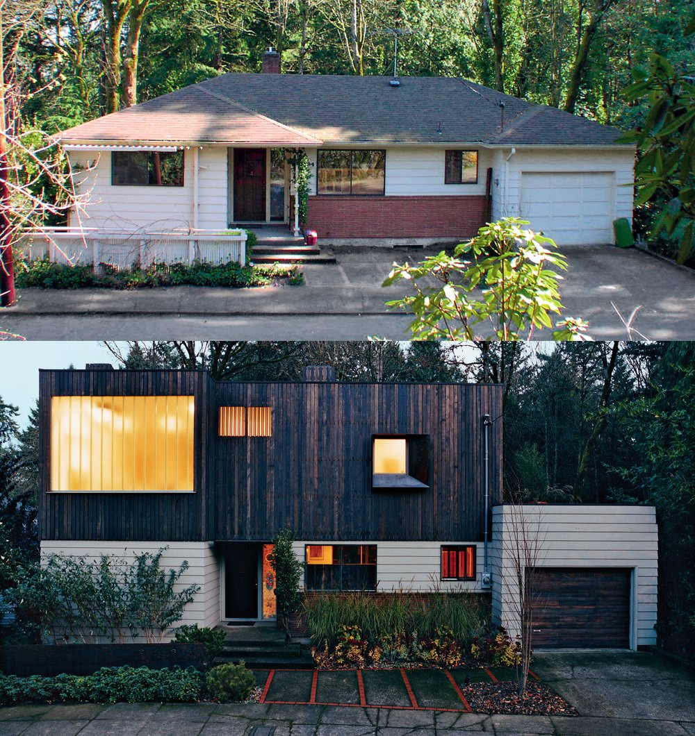 """Use your imagination. A Portland architect went for the """"ugly duckling"""" house that wouldn't sell (a plain Jane ranch house in the leafy enclave of West Hills), saying, """"A tight budget forces you to look at things you normally wouldn't, and use your money in more creative ways. We bought the smallest, cheapest house in a nice neighborhood and turned it into this funked-up modernist thing by creating a workable composition while keeping as much of the original as possible. We couldn't have gotten the total package we ended up with otherwise.""""  Top Renovation Tips from the Pages of Dwell by Kelsey Keith"""