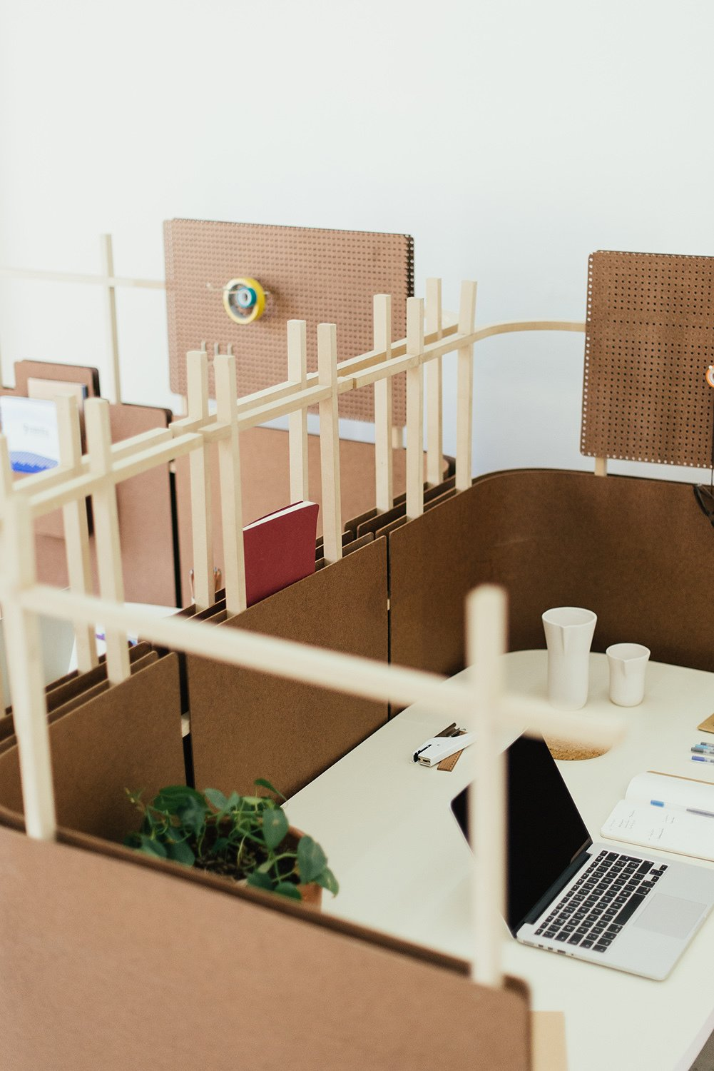 "Lightweight and configurable, the designers see the system as a flexible solution for workspaces, as well as schools, libraries, and emergency shelters.  Search ""room dividers 0"" from A Good-Looking Office System Made from an Everyday Packing Material"