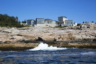 The client behind this glass-and-concrete dwelling selected the site for its unadulterated primeval landscape: it's located on a remote Nova Scotia penninsula and accessible only by ferry. Gorlin's choice of concrete was aesthetic and practical: the rugged material echoes the granite landsacpe while resisting winds and weather.