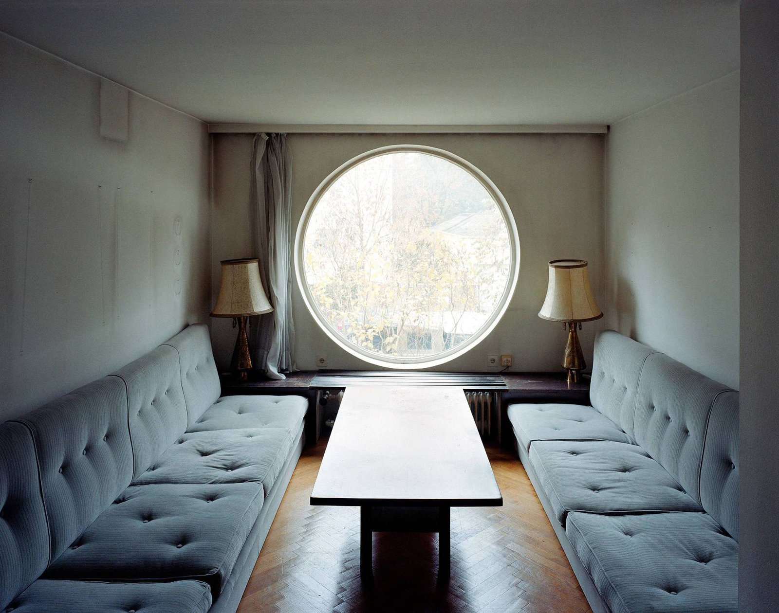 A signature element of the Villa Beer is this circular window.  Photo 2 of 6 in The Modernist Icon with Over 1,000 Pieces of Furniture to His Name