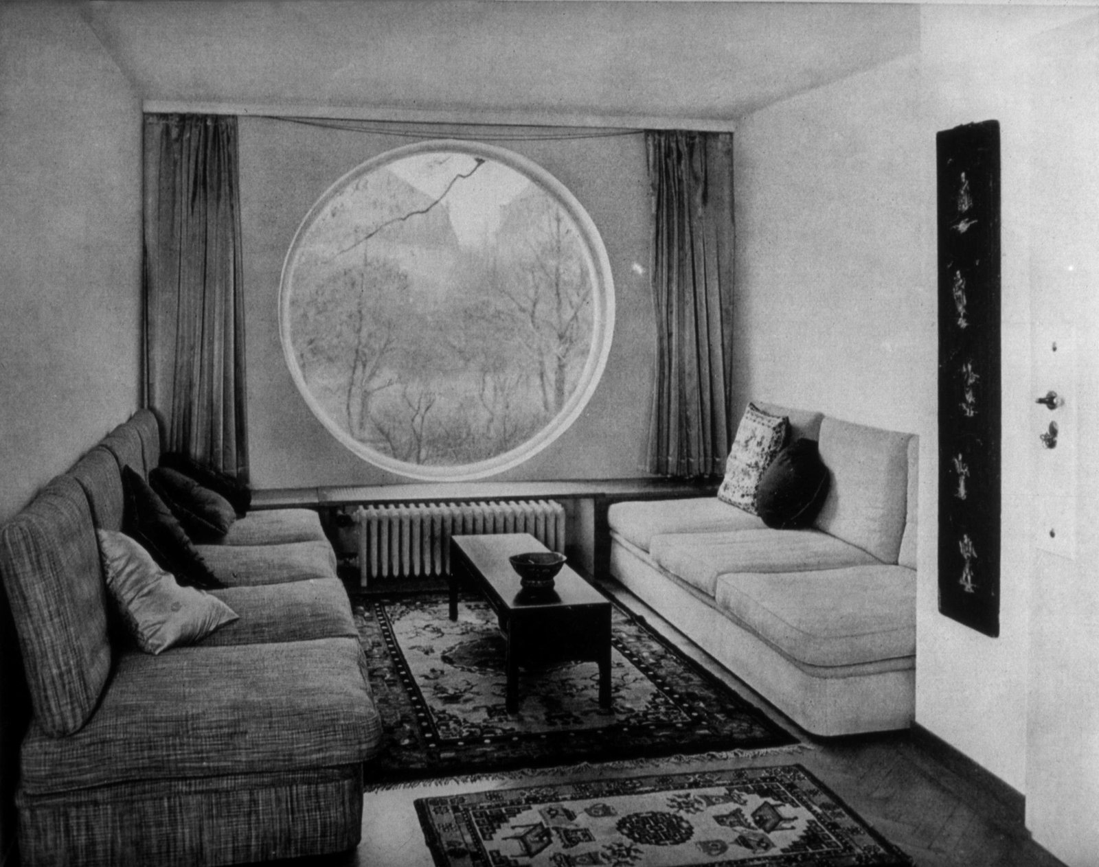 A historical photograph exemplifies Frank's philosophy of mixing textures with modern forms.  Photo 3 of 6 in The Modernist Icon with Over 1,000 Pieces of Furniture to His Name