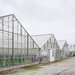 Photo of the Week: A Peaceful Moment With the Linear Greenhouses of Half Moon Bay