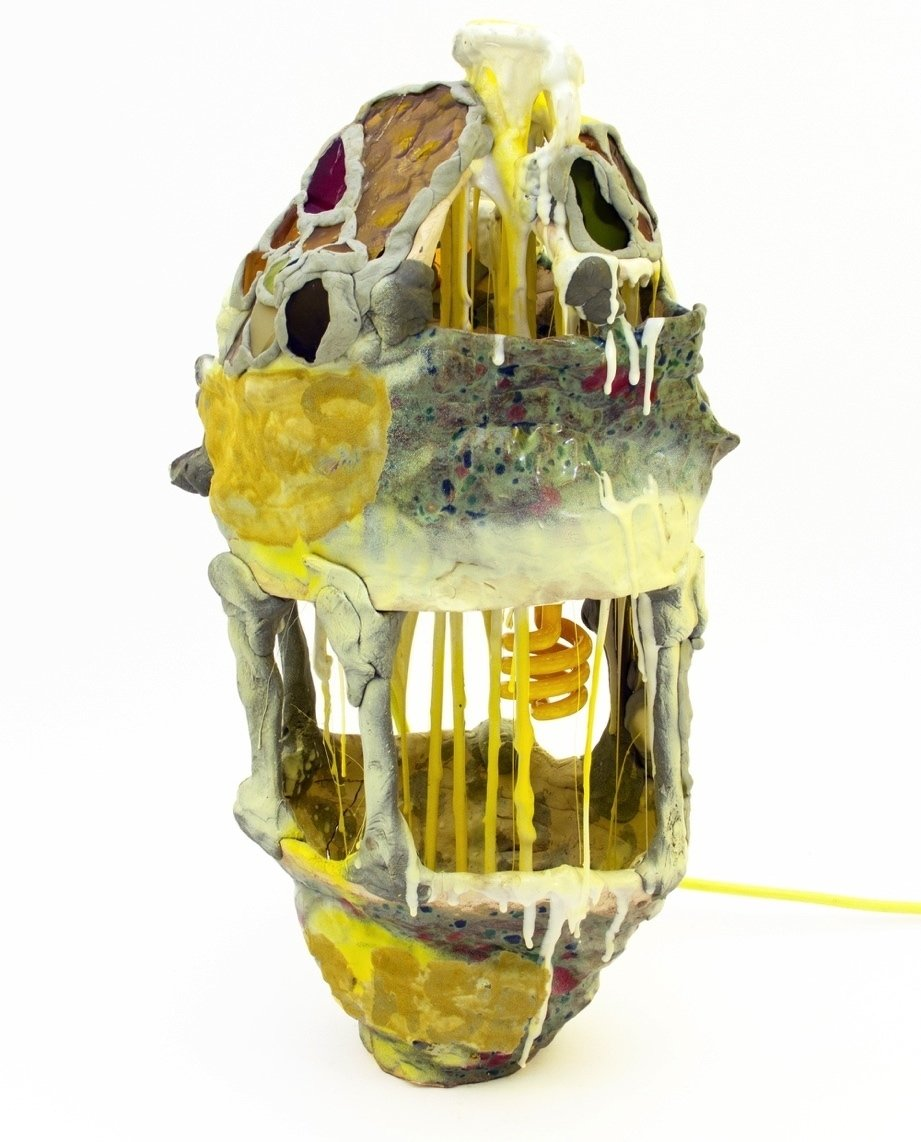 Chris Lux's Sweet Potato (yellow) blends ceramic, epoxy resin, lighting elements, and oil.  Photo 3 of 10 in These Lamps Blur the Line Between Art and Object