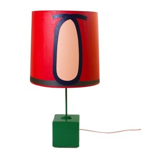 Painter Eric Shaw's Loop Lamp is one of the few pieces in the show to riff on the traditional shade.