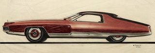 When the Future Had Fins: Fantastical Vintage Auto Drawings
