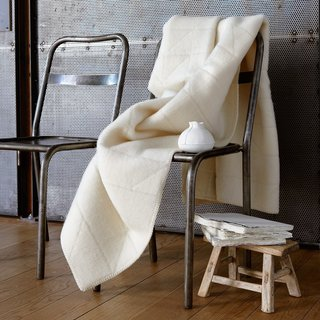 Building off of centuries-old local techniques, Røros Tweed's blankets are crafted from 100-percent Norwegian wool with collaboration from other Scandinavian designers and textile artists. Designed by Anderssen & Voll, the Åre Throw is woven in a neutral winter white that will complement existing interiors.