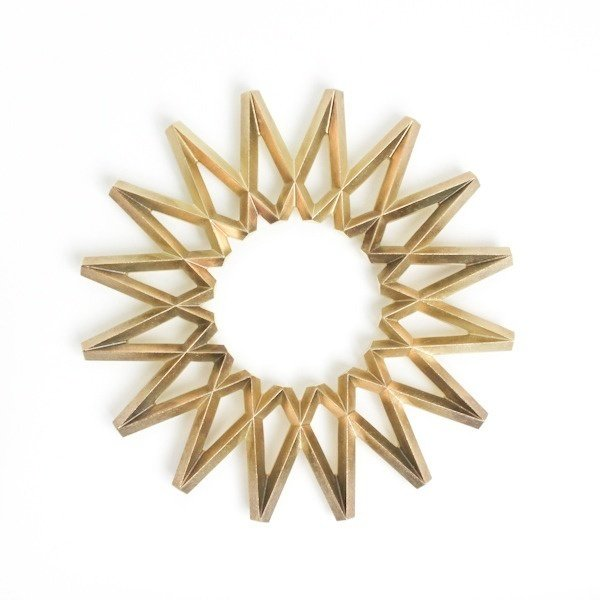 Brass trivet by Oji Masanori, $90 from muhshome.com