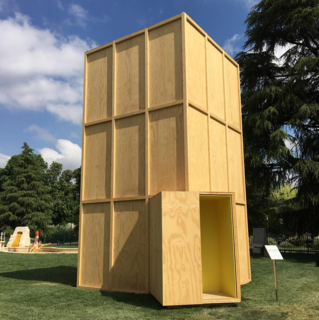 Architect Eduardo Souto de Moura and artist Jannis Kounellis have built a pavilion comprised of wooden crates used to transport art for La Triennale di Milano.