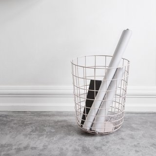 With its Wire Trash Bin, Menu takes a necessary accessory and recasts it as a distinctive accent. Comprised of steel wire, the wire paper bin is available in powder-coated colors, or chrome-plated and brass-plated versions.