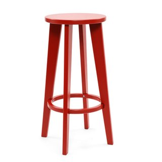 The Norm barstool has elegant, extended legs.