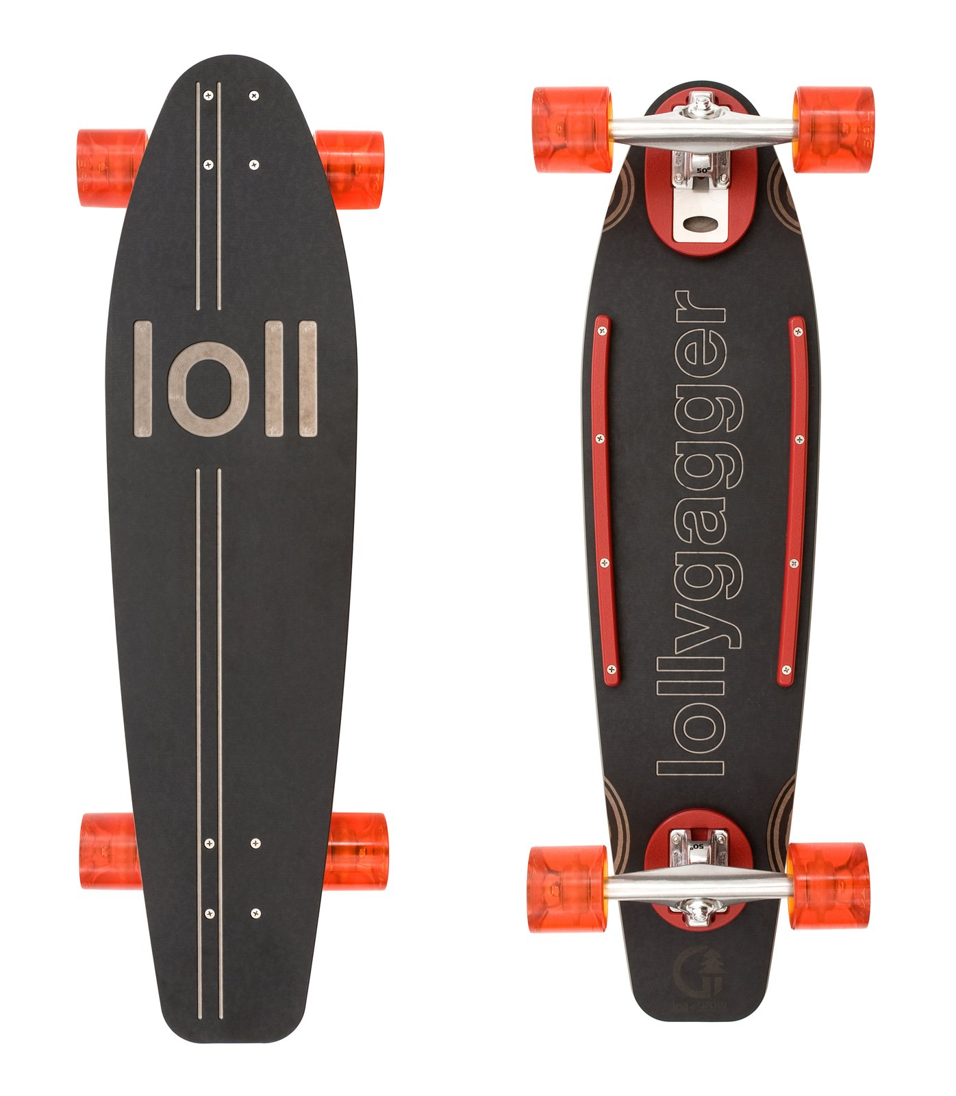 The company stays close to its roots with the Lollygagger longboard, teaming up with skate company Grow Anthology to create the most eco-friendly, smooth ride.  Modern Skate from Recycled Outdoor Furniture from a Former Skateboard Park Company