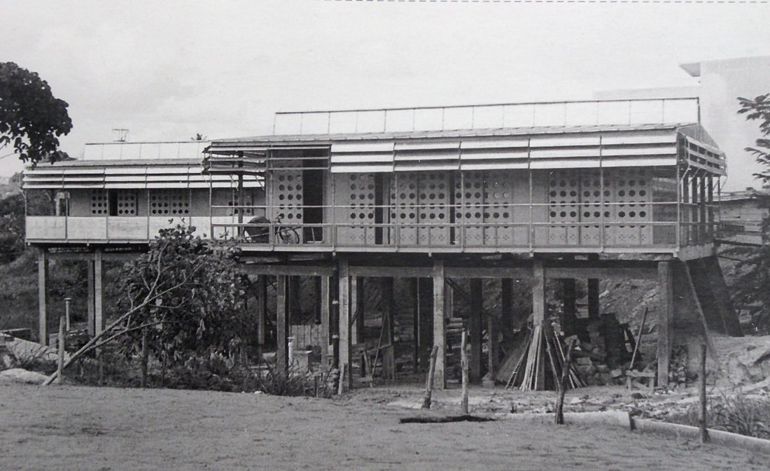 "Maison Tropicale (1950)  Probably Prouvé's most famous prefab structure—made so after hotelier Andrew Balazs reportedly paid nearly $5 million for a model a few years ago—this metal prototype was built to provide housing in France's African colonies. According to his grandson Serge Drouin, a special ""box-in-box"" construction technique created ventilation for the home as the metal facade warmed in order to provide comfortable living in the hot African climate.  Photo 4 of 6 in Progressive Prefabs of Jean Prouvé"