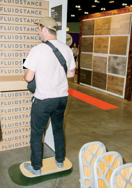 The Level platform from FluidStance is meant to increase one's range of healthy motion in the workplace  Photo 10 of 13 in 13 of the Biggest Hits from Dwell on Design Los Angeles 2015