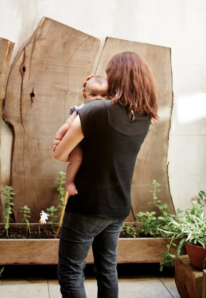 The house architects Teresa Sarmiento and Nicolas Tovo designed for their family—including 1-year-old Clara, for whom the structure is named—is a celebration of recycled materials.