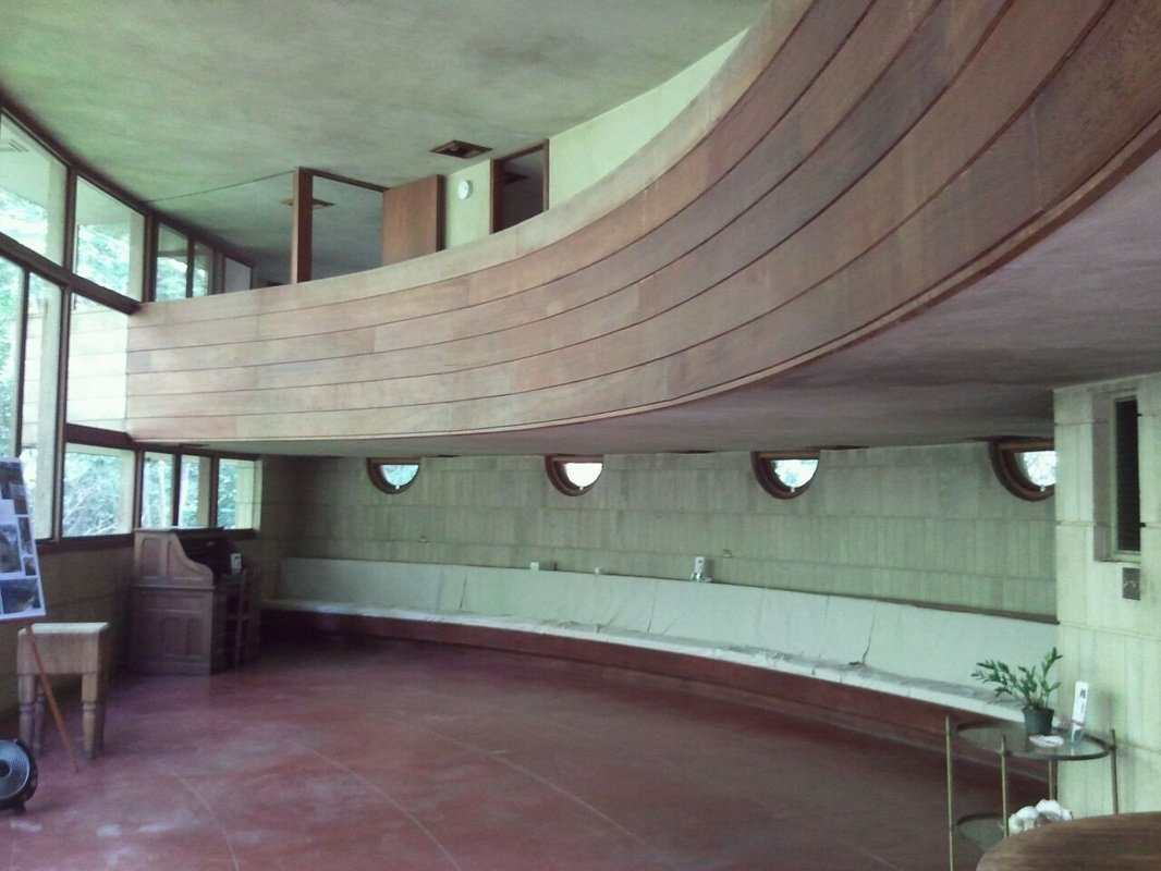 While the home has fallen into disrepair, the Spring Houe Institute hopes to raise funds to restore the structure and turn it into a public facility.  Frank Lloyd Wright's Endangered Spring House  by Allie Weiss