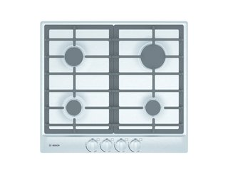 "The new Bosch 24"" gas cooktops, designed especially for small spaces, include a 11,500 BTU burner, one simmer, and two medium burners."