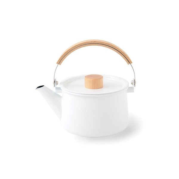 Designed to be durable enough to last for a lifetime, the Kaico Enamel Tea Kettle is an enduring classic that blends function and thoughtful Japanese design. The kettle features a simple spout and generously curved maple handle, making it easy to pour boiling water into a mug or teacup. With minimalist details, the serving piece is a great gift for savvy tea drinkers.
