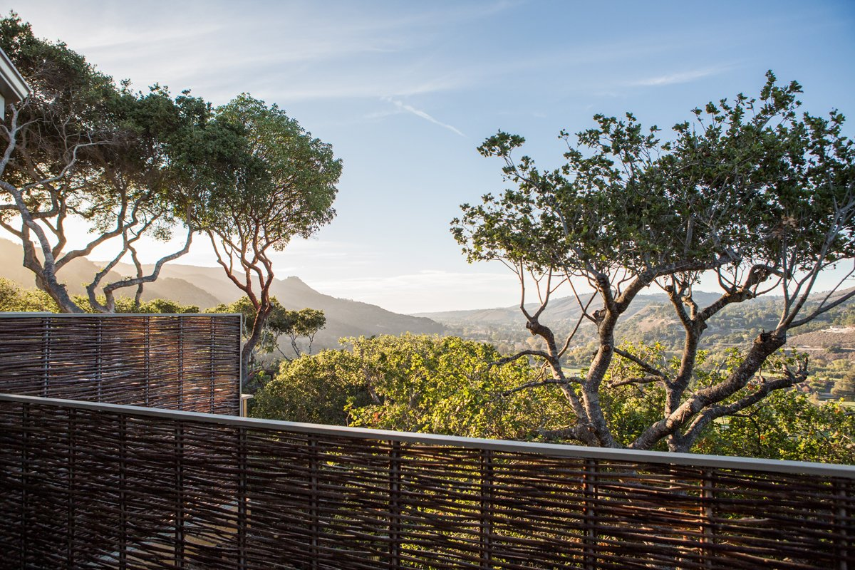 The rooms look out onto the foothills around Carmel.  A Serene Hotel in Carmel, California by Diana Budds