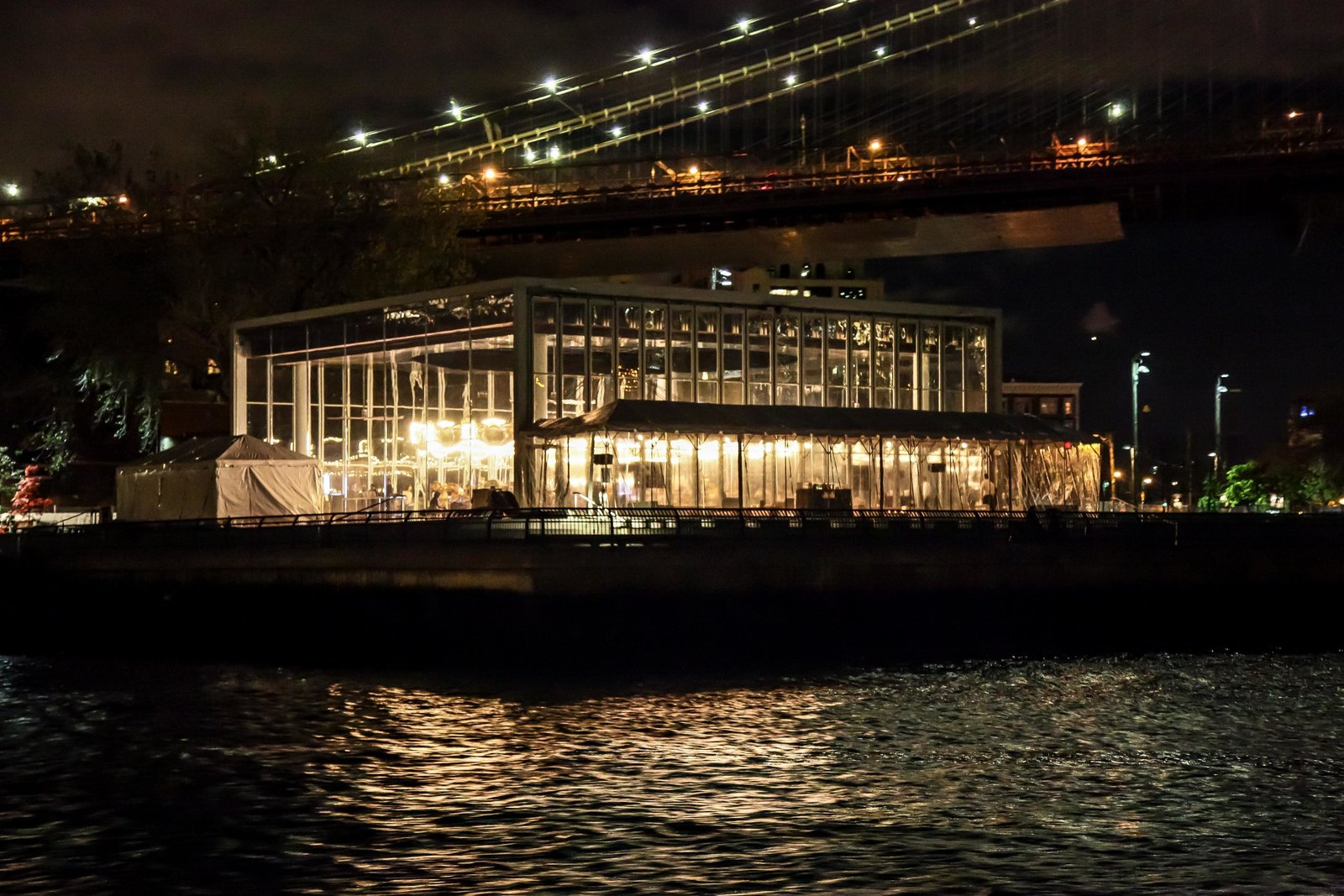 The view from the water taxi as it approached the venue excited attendees. Photo by Matteo Prandoni/BFAnyc.com.  Photo 5 of 15 in Dwell Media Announces Winner of Dwell Vision Award: SLO Architecture
