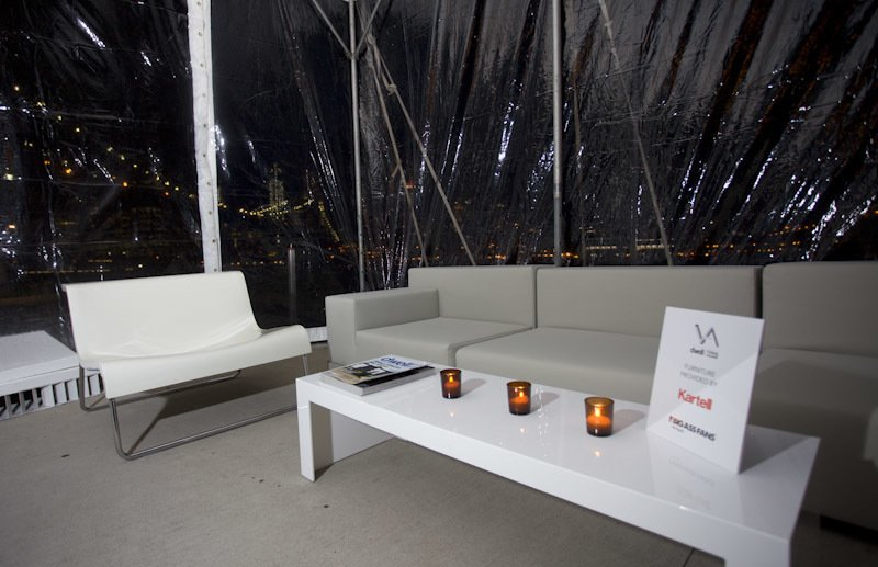 Kartell furnished a tented lounge that housed dozens of guests as they relaxed by the water. Photo by Matteo Prandoni/BFAnyc.com.  Photo 15 of 15 in Dwell Media Announces Winner of Dwell Vision Award: SLO Architecture